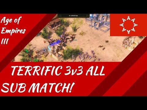 TERRIFIC 3v3 All Subscriber Match! AoE III