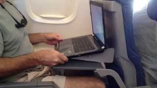 Laptop Stand On Airplane Tray Table