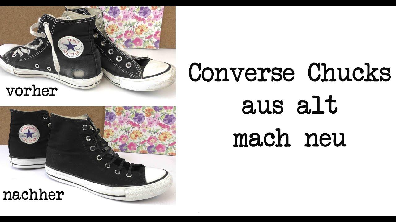 Converse Chucks aus alt macht neu Chucks schnell und einfach restaurieren DIY Anleitung