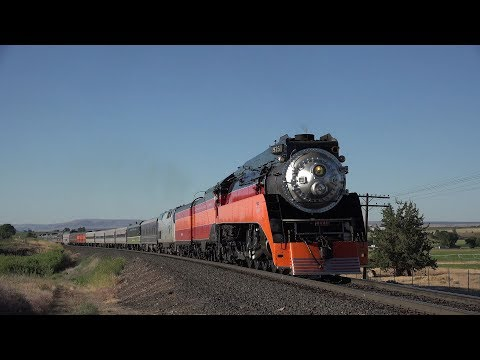 Southern Pacfic 4449 Cascades Daylight Portland to Bend Excursion 4K
