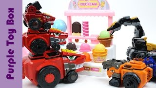 Dinosaur And Ice Cream Shop Toys, Dino Core And Hello Carbot Transformer