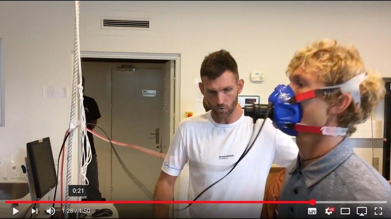 Davis Cup-spiller August Holmgren får testet sin maksimale iltoptagelse