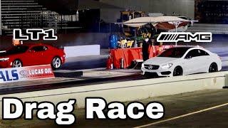 Drag Racing With Jonathan   CLA45AMG vs Camaro LT1