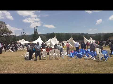 Strong wind disrupt a dialogue meeting in Bomet VIPS SCAMPER for safety