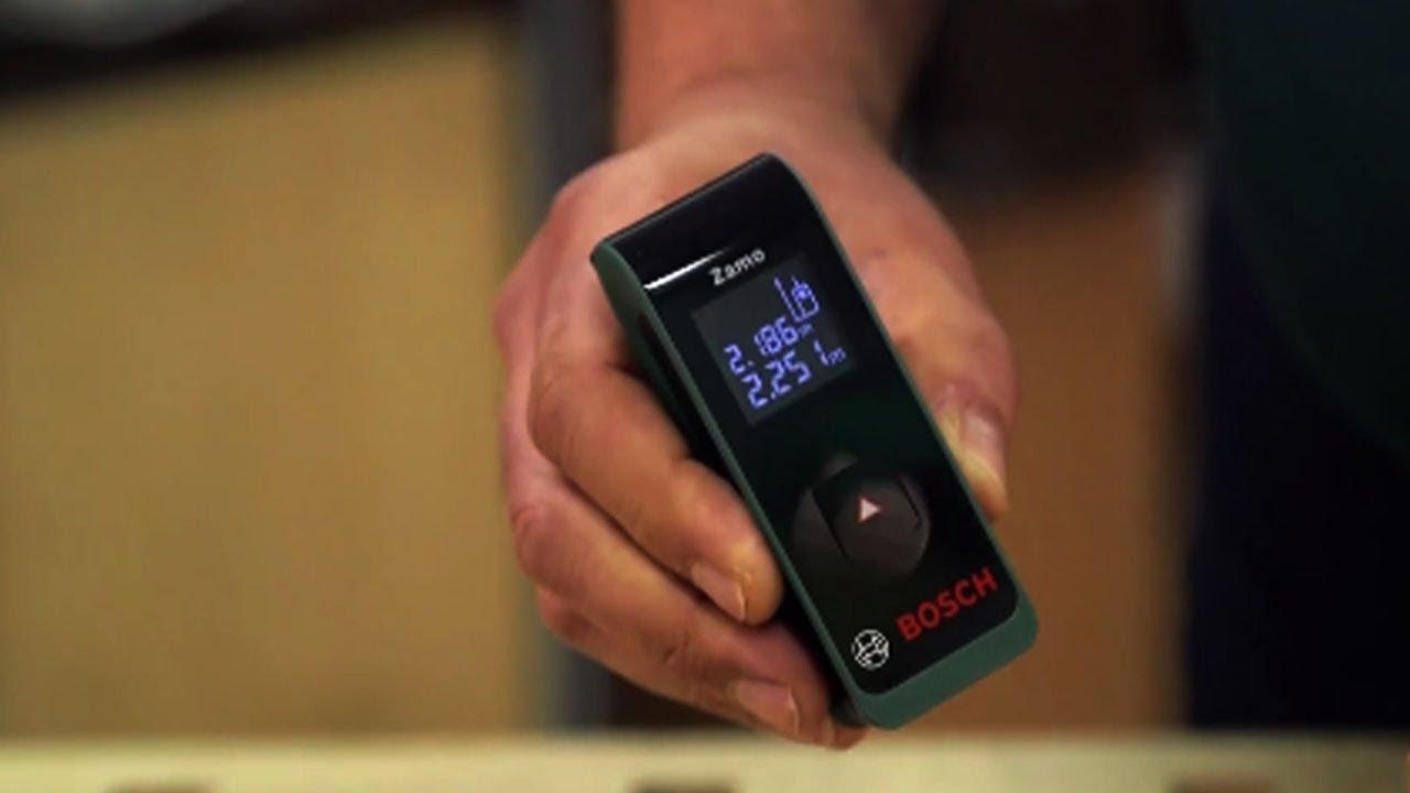 Laser Entfernungsmesser Optisch : Tutorial: der neue digitale laser entfernungsmesser zamo von bosch