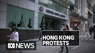 Protesters attack Hong Kong office of china's official news agency, metro stations | ABC News