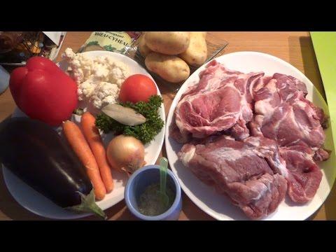 Свинина с овощами в духовке пошаговый рецепт с фото на
