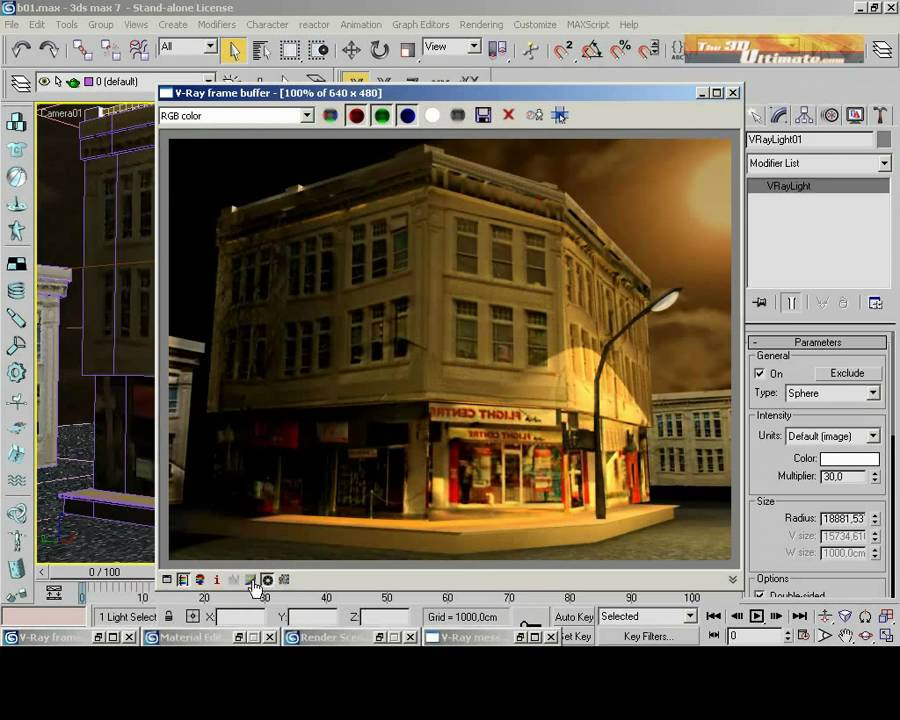 Vray Night Scene Tutorial set Part -3 - YouTube
