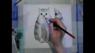 Урок рисования котика для дошкольников