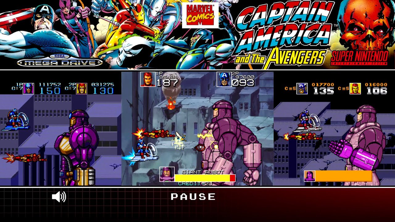 Captain America And The Avengers Arcade Mega Drive