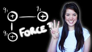 How to calculate the force between THREE charges