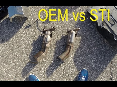 Sti Catless Uppipe Vs Oem Catted Uppipe Comparison Youtube