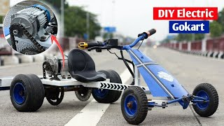 how to build Electric go - kart for Kids   Creative science