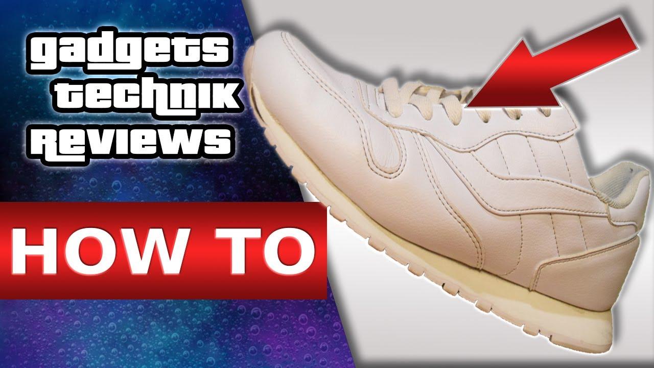 Wie macht man Weiße Nike Air sauber? (Schuhe, waschen
