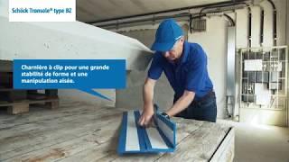 Volées droites préfabriquées : montage Schöck Tronsole® types BZ, B, L.