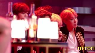 [4K] 161202 BTS @ 2016 MAMA 待機席 歌手席 4 ; REACTION to EXO