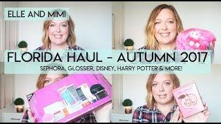 Florida Haul | Autumn 2017 | Sephora, Glossier, Disney, Universal, Apple Store | Elle and Mimi