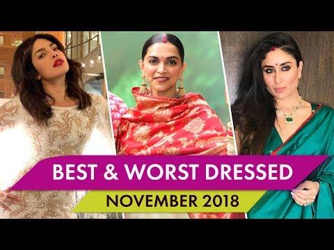 Priyanka Chopra, Deepika Padukone, Kareena Kapoor Khan : Best and Worst Dressed of November 2018