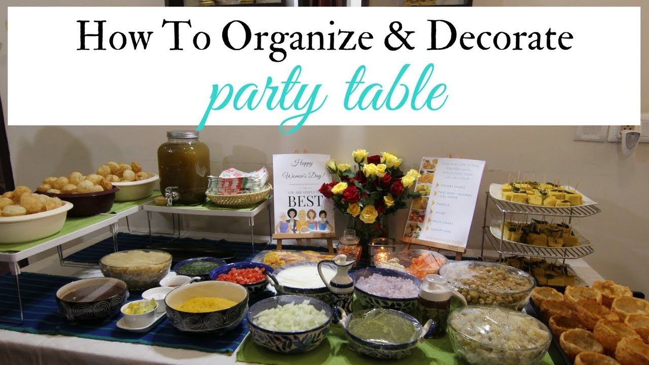 Party Table Ideas How To Organize Decorate Party Table On A