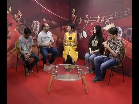 Watch: Anindya Chattopadhyay, Anupam Roy, Chandrani and Prashen in a Chat show at ABP Anan
