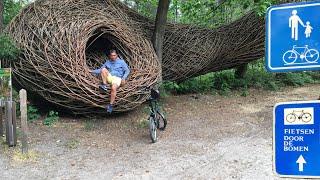 BLAUWE MEER oostappen, Limburg fitsen door de bomen 🇧🇪