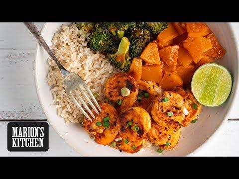 Smoky Sriracha Grilled Prawn Rice Bowl Marion S Kitchen