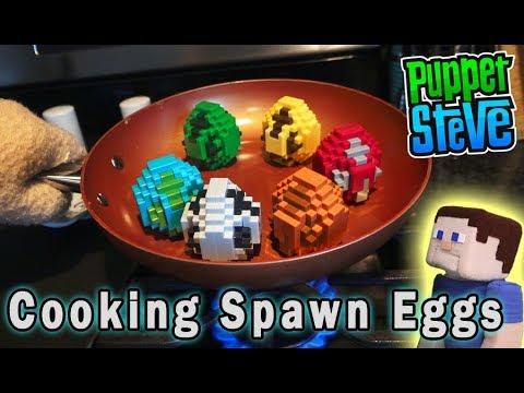 Minecraft Mini Figures Spawn Eggs Mattel Blind Surprise  Set PlaySet Unboxing Puppet Steve