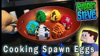 Minecraft Mini Figures Spawn Eggs Mattel Blind Surprise Full Set PlaySet Unboxing Puppet Steve
