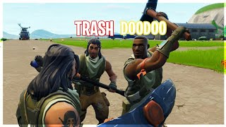 Default skin 1v2 against Trash talkers in fortnite!