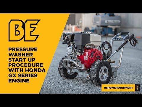 Pressure Washer Start Up Procedure with a Honda GX Series Engine