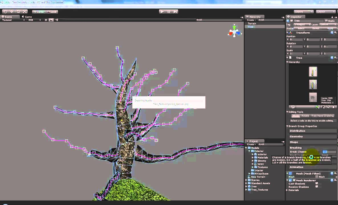 how to add trees in unity