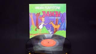 Columbia RECORDS/コロンビアレコード・ヴィンテージLP「WILMA FLINTSTONE TELLS THE STORY OF BAMBI/ウィルマ フリントストーン・バンビ」ダメージ