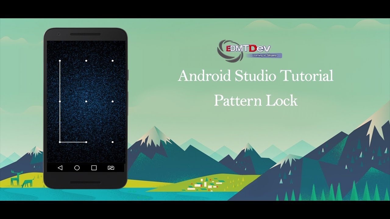 Android Studio Tutorial - Pattern Lock View