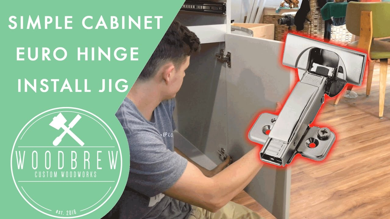 How To Easily Install Euro Cabinet Door Hinges Woodbrew Youtube