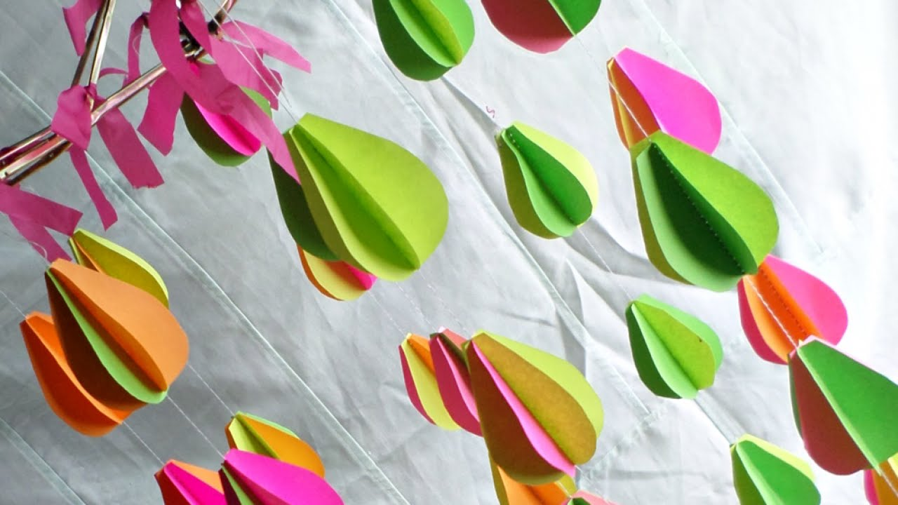 How To Make a Colorful Umbrella Frame Mobile - DIY Home Tutorial ...