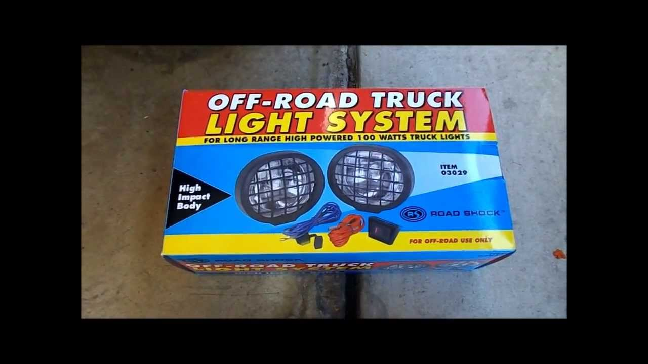 how to install off road lights diy cheap harbor freight. Black Bedroom Furniture Sets. Home Design Ideas