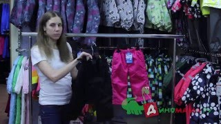 видео теплые брюки для девочки