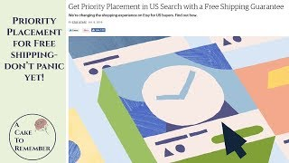 Etsy Free Shipping Guarantee and priority search placement- SEO tips