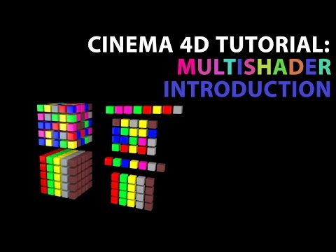 Cinema 4D Tutorial: Introduction to the Multi-Shader