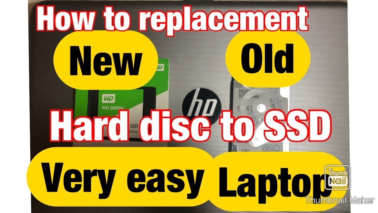 How to replacement old hard disk laptop HP to SSD step by step very easy.