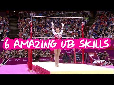 6 Amazing Uneven Bars Skills - Gymnastics