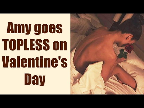 Amy Jackson shares topless photo on Valentine's Day   FilmiBeat