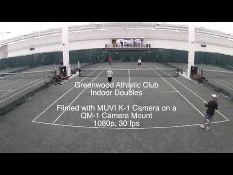 4.5 Senior Tennis Using the Muvi K-1 Camera to Film Indoors