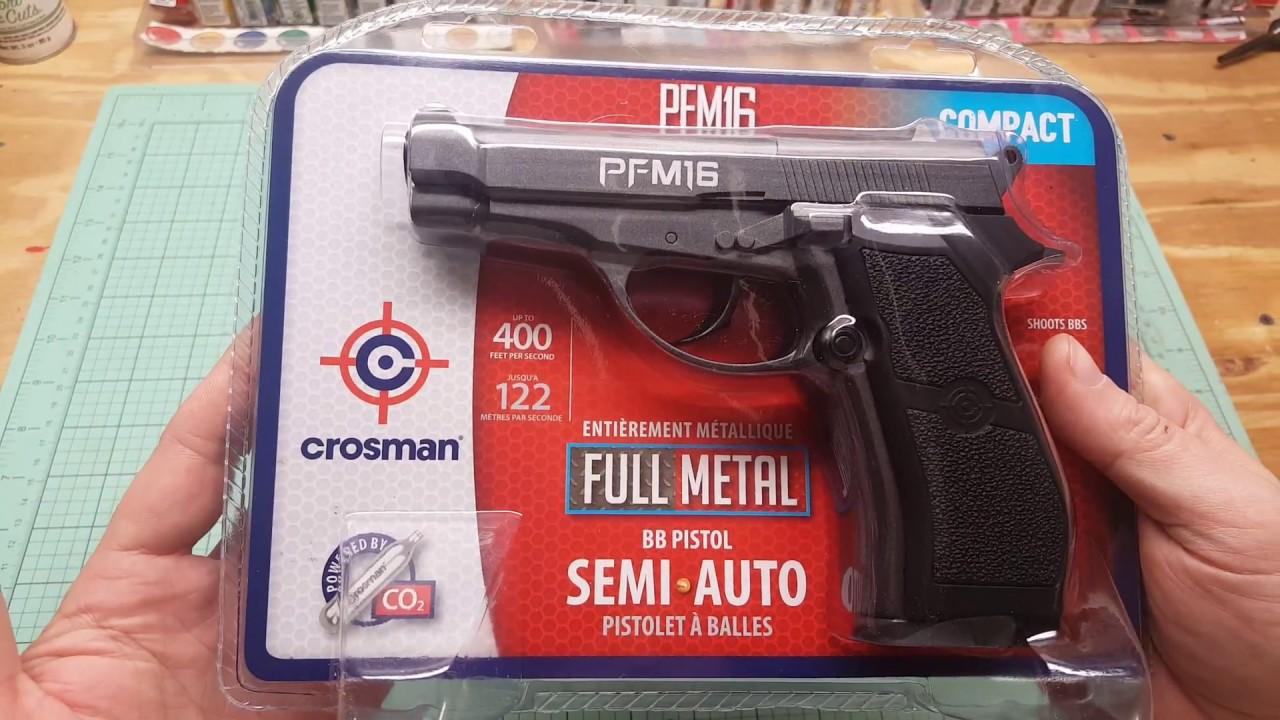 Crosman PFM16 Unboxing Review Shooting test