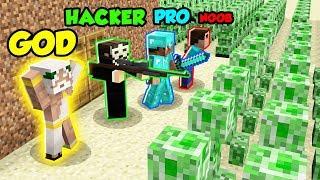 Minecraft Battle NOOB vs. PRO vs. HACKER vs. GOD: CREEPER APOCALYPSE in Minecraft!