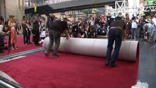Tapete vermelho pronto para o Oscar