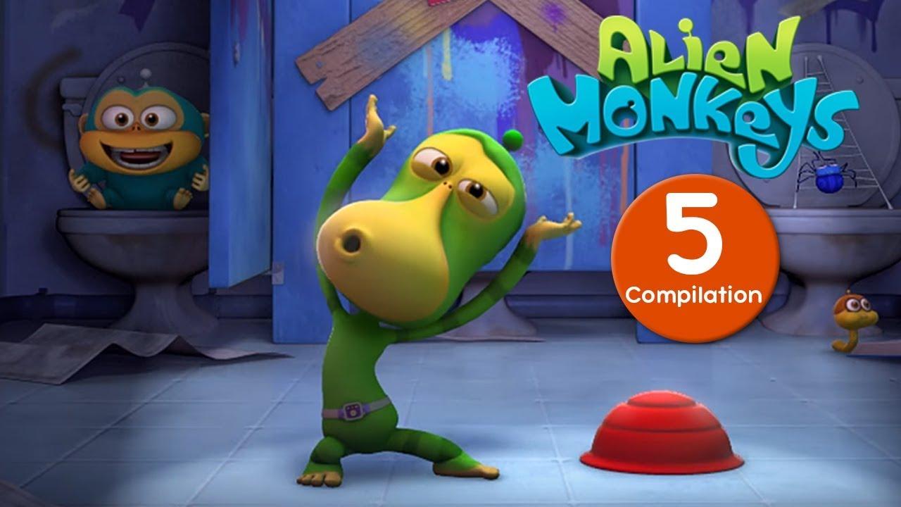 Download Funny Animated Cartoon - Alien Monkeys - Compilation - Cartoons For Children