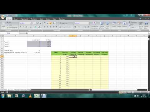 EXCEL- Loan amortization schedule changing ANNUAL INTEREST RATES