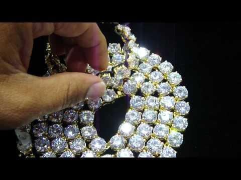77a49e2120af9 Mr Chris Da Jeweler Custom Lab Diamond 5 Carat Bracelet & Necklace (Video  No : BN4440) Price : $250