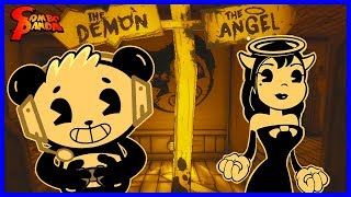 BUILD OUR MACHINE ! Bendy and the Ink Machine in Basement ! Let's Play Scary Game